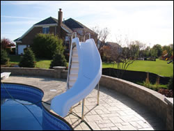 Residential Pools With Slides slides | swimming pools algonquin, barrington, lake forest